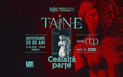 """Program concert Taine -""""Cealalta Parte"""" – aniversare 20 de ani"""